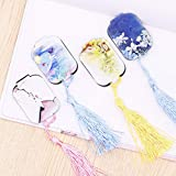 Magnetic Bookmarks Tassels, Creative Classical Sector Book Marker Memory for Women But 4pcs-B