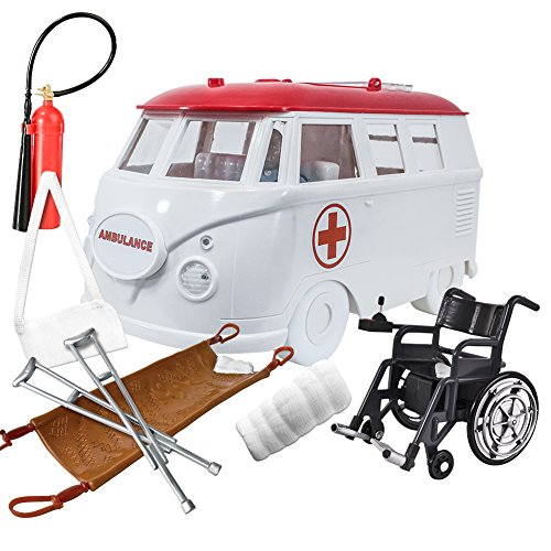 Deluxe Ambulance Playset for WWE Wrestling Action Figures: White by Figures Toy Company