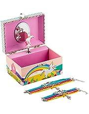 Kids Unicorn Jewellery Box Plus Bracelet Set, 3 Unicorn Gifts for Girls - LW KIDS Creations