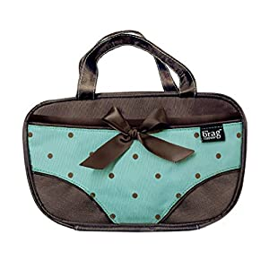 Travel Underwear Organizer Lingerie Bag –Underwear Pouch For Women That Separates Clean & Not-So-Clean Panties - Protect Store & Organize Your Undies & Bikini Bottoms When Traveling -Tiffany Turquoise