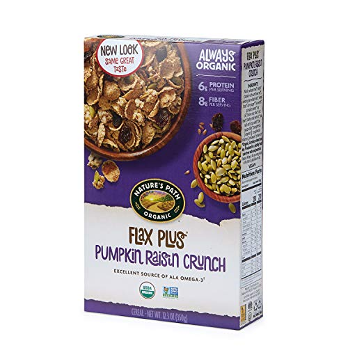 Nature's Path Flax Plus Pumpkin Raisin Crunch Cereal, Healthy, Organic, 12.3 Ounce Box (Pack of 12)