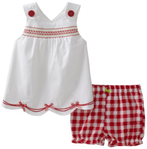 Hartstrings Baby-Girls Newborn Cotton Poplin Top And Seersucker Short Set