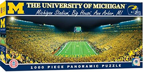 MasterPieces Collegiate Michigan Wolverines 1000 Piece Stadium Panoramic Jigsaw Puzzle ()