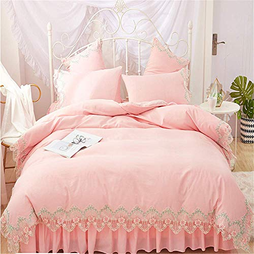 Luxury Lace Bedding Sets Queen King Size Duvet Cover Set Bed Skirt Set Pillowcase Bedclothes G  Bed Sheet 200X220Cm