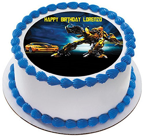 Amazon.com: Transformers 2 Edible Birthday Cake OR Cupcake Topper ...