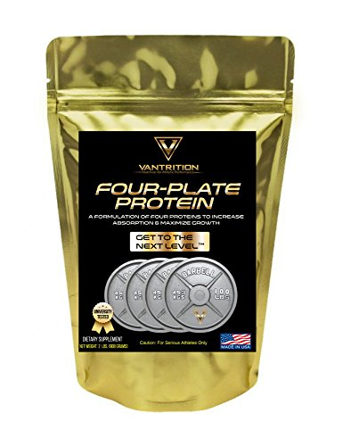 Whey Protein Isolate Powder Advanced Blend - Vantrition Four Plate - Supplements for Athletic Performance Strength Training Weight Lifting (1 LB, Chocolate Fudge Brownie)