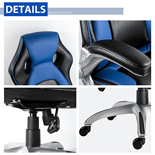 Nkv High Back Gaming Chair Racing Style Office Chair