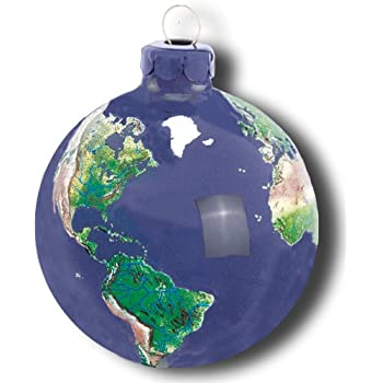 Earth Ornament, Glass With Natural Earth Continents, More Than 50 Rivers  Visible, 2.5 - Amazon.com: Earth Ornament, Glass With Natural Earth Continents