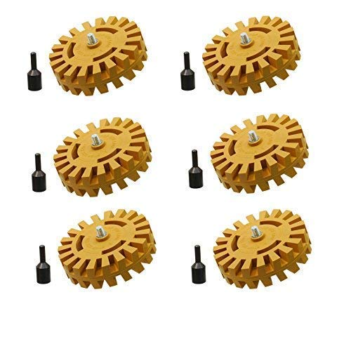 Seven Sparta 2Pack Car Decal Remover Sticker Remover Tool 4-inch/Rubber Eraser Wheel