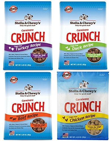 Stella & Chewys Carnivore Crunch Variety Pack (Beef, Duck, Chicken, Turkey)
