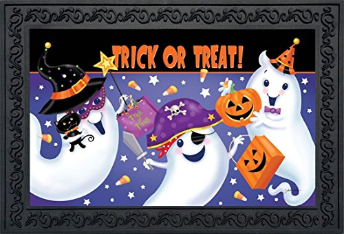 [Trick or Treat Halloween Doormat Ghosts Candy Indoor Outdoor 18