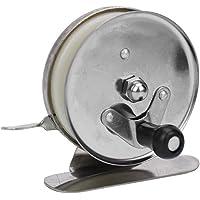 StarLake Ice Fishing Reel, Mini Pole Line Reel Rods Shrimp Metal Steel Lightweight Portable