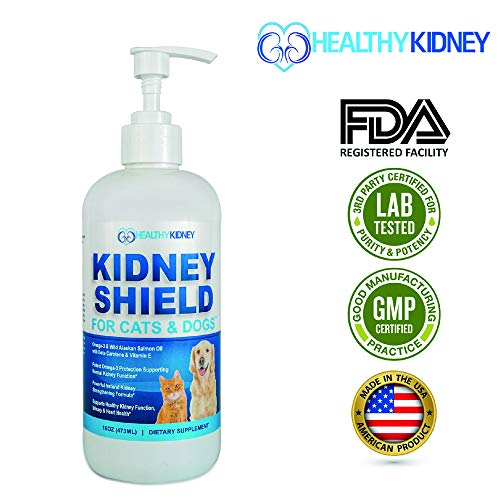 #1 Dog & Cat Kidney Support, Canine Feline Renal Health Support Supplement For Normal Kidney Function, Creatinine, Detox, Urinary Track Cleansing, Best Kidney Pills, Improve Pets Alive & Kidney Health