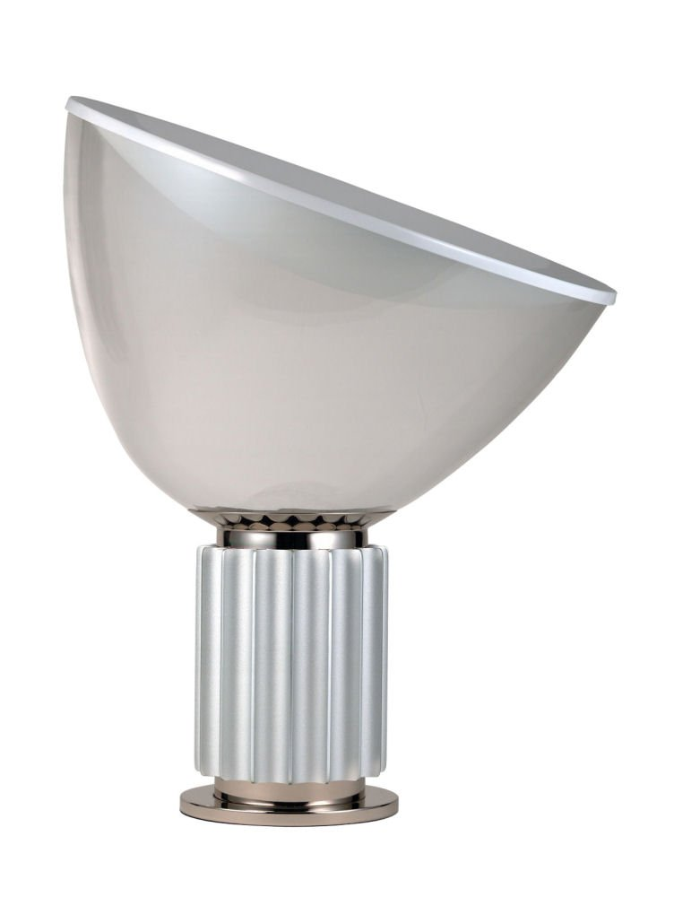 Flos Taccia Table Lamp Anodised Aluminium Base with Glass