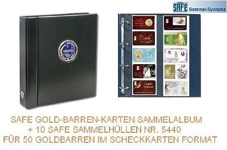 Safe 481g Goldbarren Karten Premium Sammelalbum Mit Farbiger 3d