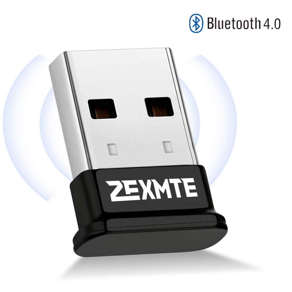 Bluetooth Adapter for PC Bluetooth 4.0 USB Wireless Dongle Compatible with PC Desktop Computer with Windows 10 8.1 8 7 Vista XP, Low Energy Micro Adapter by ZEXMTE