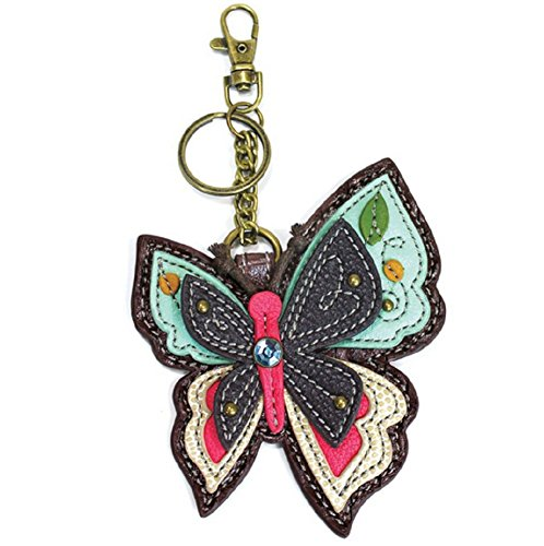 Multi Charm Keychain - Chala Decorative Coin Purse/Key-Fob (New Butterfly)