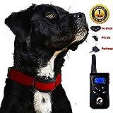 Paipaitek No Shock Dog Training Collar Remote Rechargeable Waterproof Vibration Beep No Bark No Prongs Behavior Aid 100 Levels LCD Screen