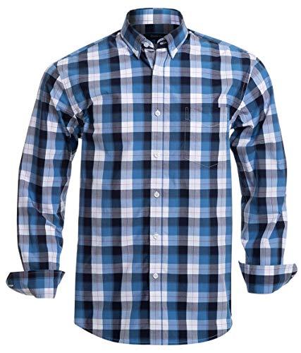 Double Pump Mens Button Down Shirts Long Sleeve 100% Cotton Regular Fit Button Down Shirts for Men(RM08LS07,M)