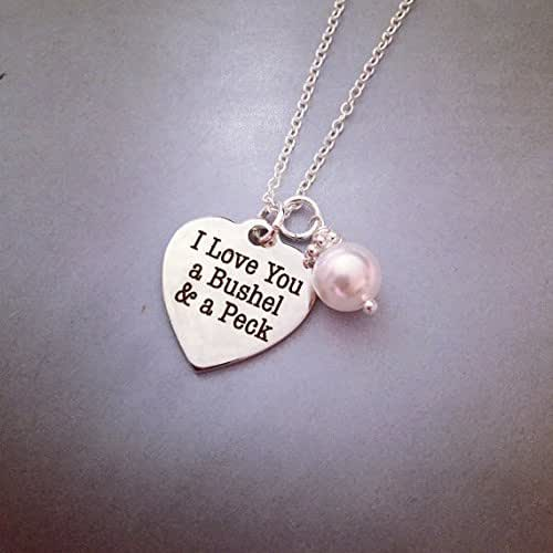 I Love You A Bushel And A Peck Necklace: Amazon.com: I Love You A Bushel And A Peck Necklace