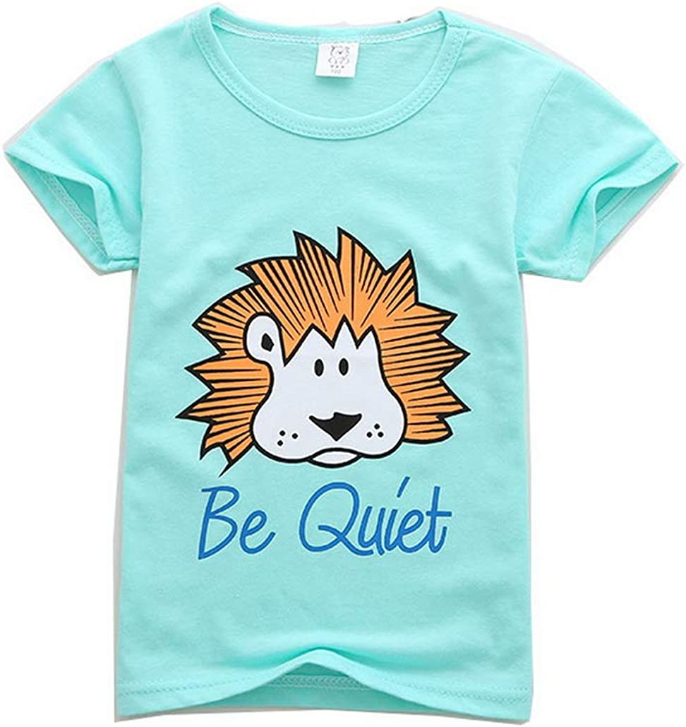 Boys T Shirt New Kids Cotton Summer Short Sleeved Tee Tops Ages 2-13 Years
