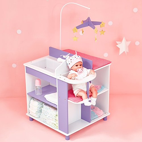 Oliviau0027s Little World   Princess Baby Doll Furniture   Baby Changing  Station With Storage (White) | Wooden 18 Inch Doll Furniture