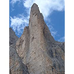 LAMINATED 24x32 Poster: Mountain Peak Dolomites Italy Sky Clouds Peaks Scenic Nature Country Countryside Wall Steep