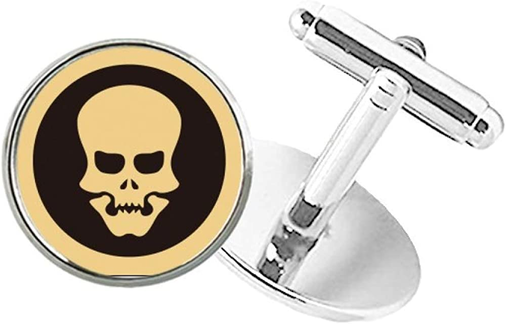 DIYthinker Happy Halloween Hollowed Skull Round Button Cuff Clip Stud Cufflinks
