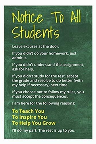 Ouken Cartel Inspirador Para Todos Los Estudiantes Poster De