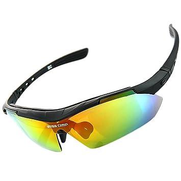 Gafas de Sol Polarizadas para Ciclismo Esqui Moto Deporte ,Puede instalar la lente de la