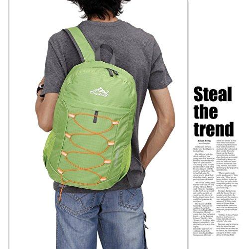 Alas auténtica ultraligero libre del bolso de la piel del hombro portátil plegable bolsa de viaje resistente al agua al aire libre del alpinismo verde