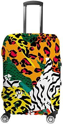 スーツケースカバー 動物の皮 ユキヒョウ柄 伸縮素材 キャリーバッグ お荷物カバ 保護 傷や汚れから守る ジッパー 水洗える 旅行 出張 S/M/L/XLサイズ