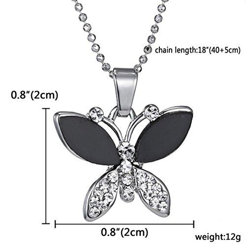ptk12 Top Quality Rhinestone Crystal Pendant Necklaces New Butterfly Necklace Classic Animal Long by ptk12