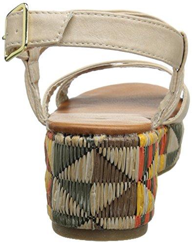 C Étiquette Davita-1 Sandale Compensée Pour Femme