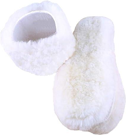 Winter Warm Sheepskin Pad Thermal Insert Shoe Fleece Wool Fur Soft Insoles Boots
