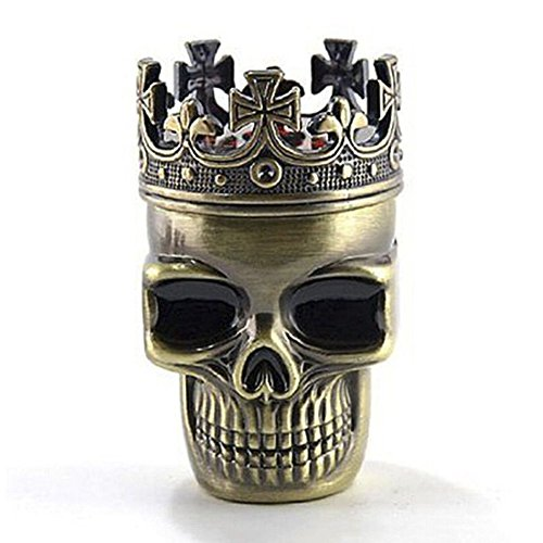 Bronze Skull Tobacco Grinder Layers product image