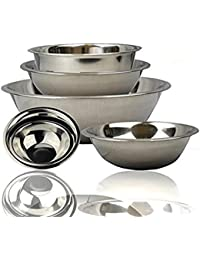 Bargain FineDine Stainless Steel Bowls, Nesting Kitchen Mixing Bowl Set | Mirror Finish [6 pieces] wholesale
