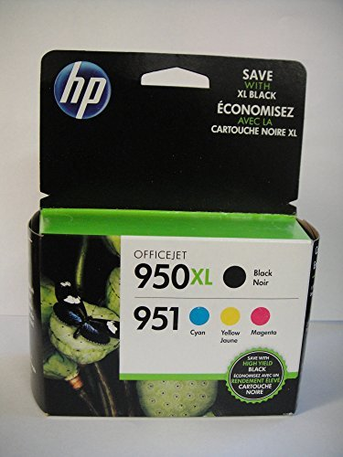 HP 950XL Black and 951 Tri-color (Cyan, Magenta, Yellow) ...