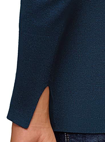 Collection 7900n Maglione Blu Oodji Donna Basic gqzU7