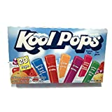 KOOL POPS 20 Fruit Flavoured Delicious ICED FREEZIES