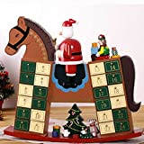 Rocking Horse Advent Calendar New Home Xmas Decoration Reusable Christmas Countdown Present