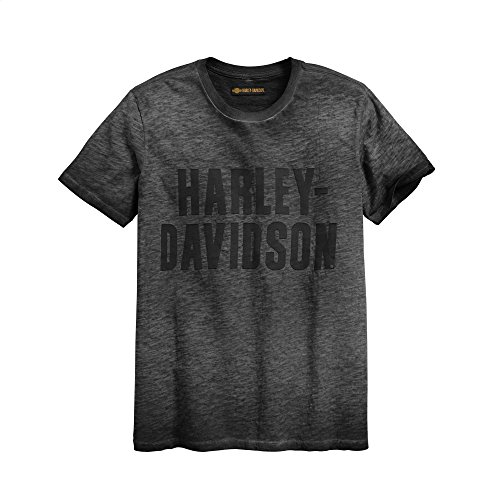 Harley-Davidson Official Men's Jersey Applique Logo Slim Fit Tee, Black (Small)