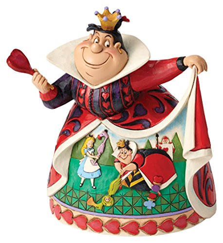 Disney Jim Shore Royal Recreation Queen of Hearts Diorama Dress Figurine 4051993 ()