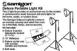 Samigon Deluxe Portable Studio Lighting Kit with 2 Lights