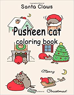 Pusheen Cat Coloring Book A Perfect Gift For Kids And Adullts