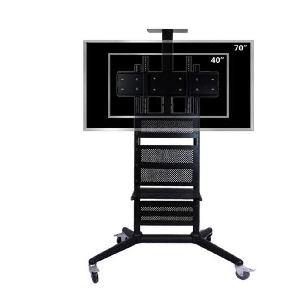 可動テレビ台、LCD Tv の移動式カート40-70 インチミュートホイール最大負荷ベアリング 100 KG の配送モール、オフィス、またはその他の広々とした部屋 B07KBZC7KS