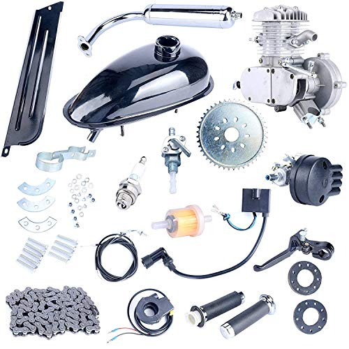 YaeCCC Bicycle Motor Kit 80cc 2-Stroke Motor Engine Mountain Bike Upgrade Kit Gas for Motorized Bicycle Bike Kits