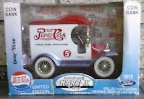 Pepsi Cola Gearbox 1912 Ford Diecast Coin Bank