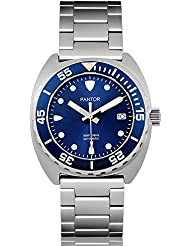 Pantor Sealion 300m Automatic 42mm Pro dive watch with Helium Valve Rotating Bezel Sapphire blue dial stainless...