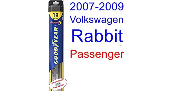 Amazon.com: 2007-2009 Volkswagen Rabbit Wiper Blade (Passenger) (Goodyear Wiper Blades-Hybrid) (2008): Automotive
